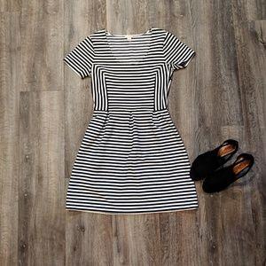 J. Crew Striped Skater Dress